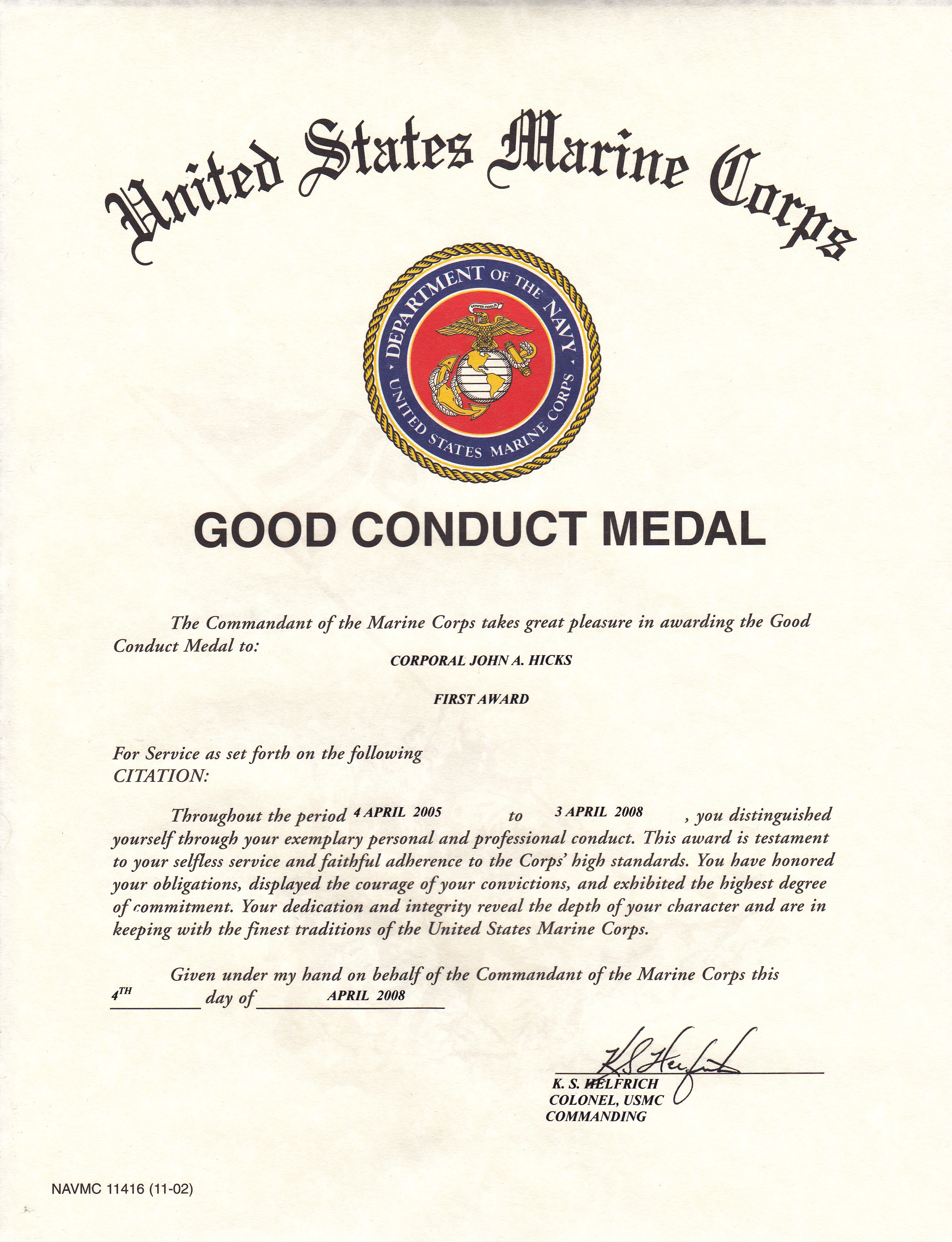 army good conduct medal certificate template - information